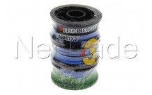 Black&decker - Bobine fil de coupe pour débroussailleuse  - a6441 - A6441X3XJ