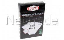 Moccamaster - Papier filtre n ° 4 (100 pièces) - 85022