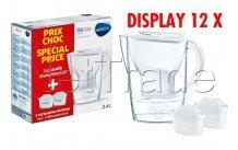 Brita - Fill&enjoy marella cool white 2.4l + 2 maxtra display 12 stuks - 1040954