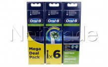 Oral-b - Brosse a dents - eb50 rb crossaction refills 2+2+2 - 80339534