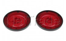 Nilfisk - Roues arrieres rouges (2pces) coupe neo - 78602711