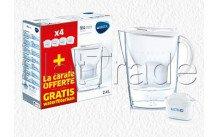 Brita fill&enjoy marella cool white + 4 maxtra cartouches filtrantes - 1040843