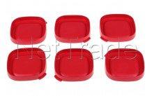 Seb - Couvercles de pots à yaourt carrés rouges - 6 pcs - SS1530000653