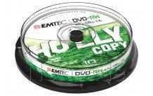 Emtec dvd-rw 4,7gb 4x cb cakebox (10 st/pcs) - ECOVRW47104CB