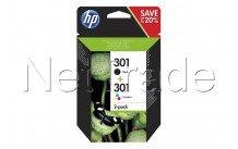 Hewlett packard - Hp 301 inkt combo 2-pak noir/3couleur - N9J72AE