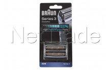 Braun - Cassette de rasage - serie 3 - 32s - silver - 81633297