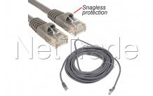 C2g cables - Utp cable 5m - cat5e 350mhz - rj45 (m) grey snagless protection - 83145