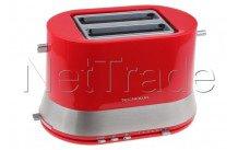 Tecnolux - Grille pain 2 fentes, rouge, puissance 820w - PT822SM1R