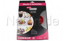 Crealys - Moule 6 tartelettes en silicone et acier sweet  29x32cm - 511899