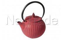 Crealys - Théière harmony- fonte d'acier  850 ml - rouge mandarin - tous feux dont induction - 507156