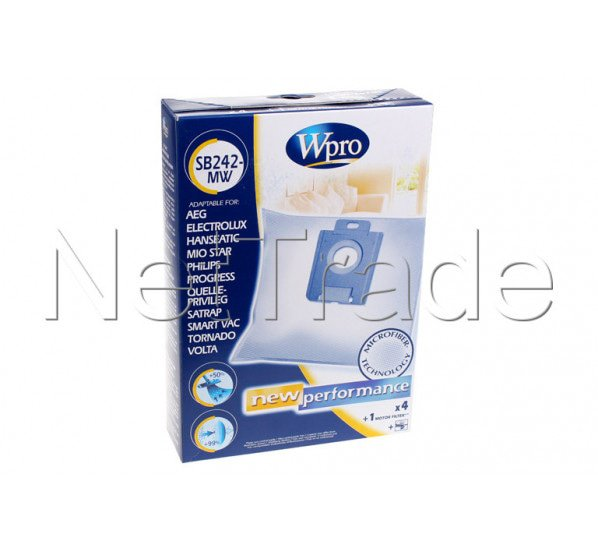 wpro sac aspirateur philips s bag sb242mw electrolux wpro philips 481281718617. Black Bedroom Furniture Sets. Home Design Ideas