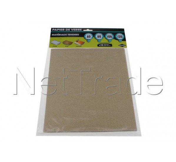 Cogex - Papier abrasif - 10 feuilles avec grains assortis, - 43621