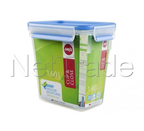 Emsa - Clip & close boîte alimentaire hermétique rectangulaire -1.6l - 508543