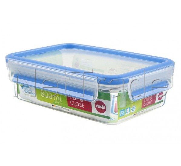 Emsa - Clip & close boîte alimentaire hermétique rectangulaire -0.8l - 508539