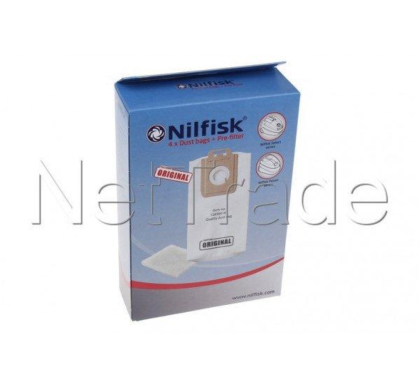 Nilfisk - Sac synthétique (4) - power serie - 128389187