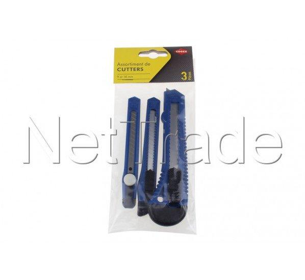 Cogex - Cutter plast 3 pcs 9+18 mm - 60467