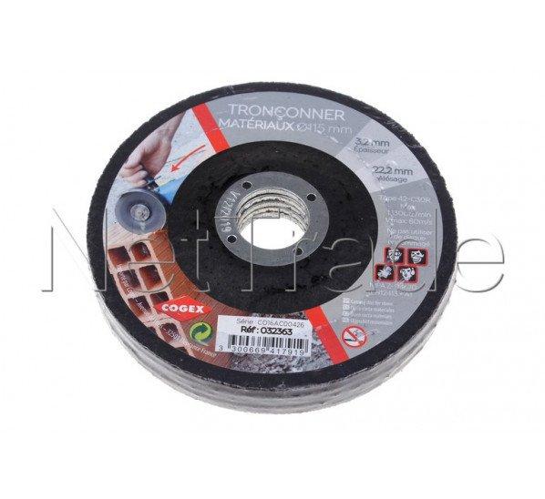 Cogex - Disque a tronconner ø 115 mm materiaux 5 pièces - 32363
