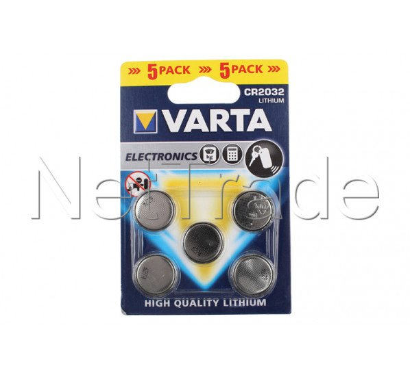 varta pile bouton lithium cr2032 blister de 5 piles. Black Bedroom Furniture Sets. Home Design Ideas